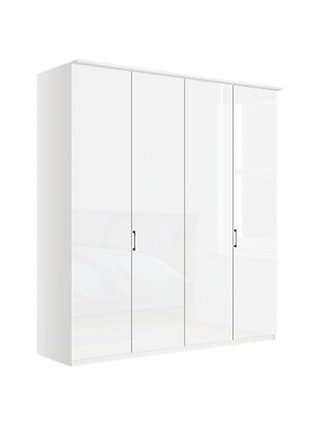 Hinged-door wardrobes pine painted white john lewis u0026 partners elstra 200cm wardrobe with glass hinged doors BMTMGAB