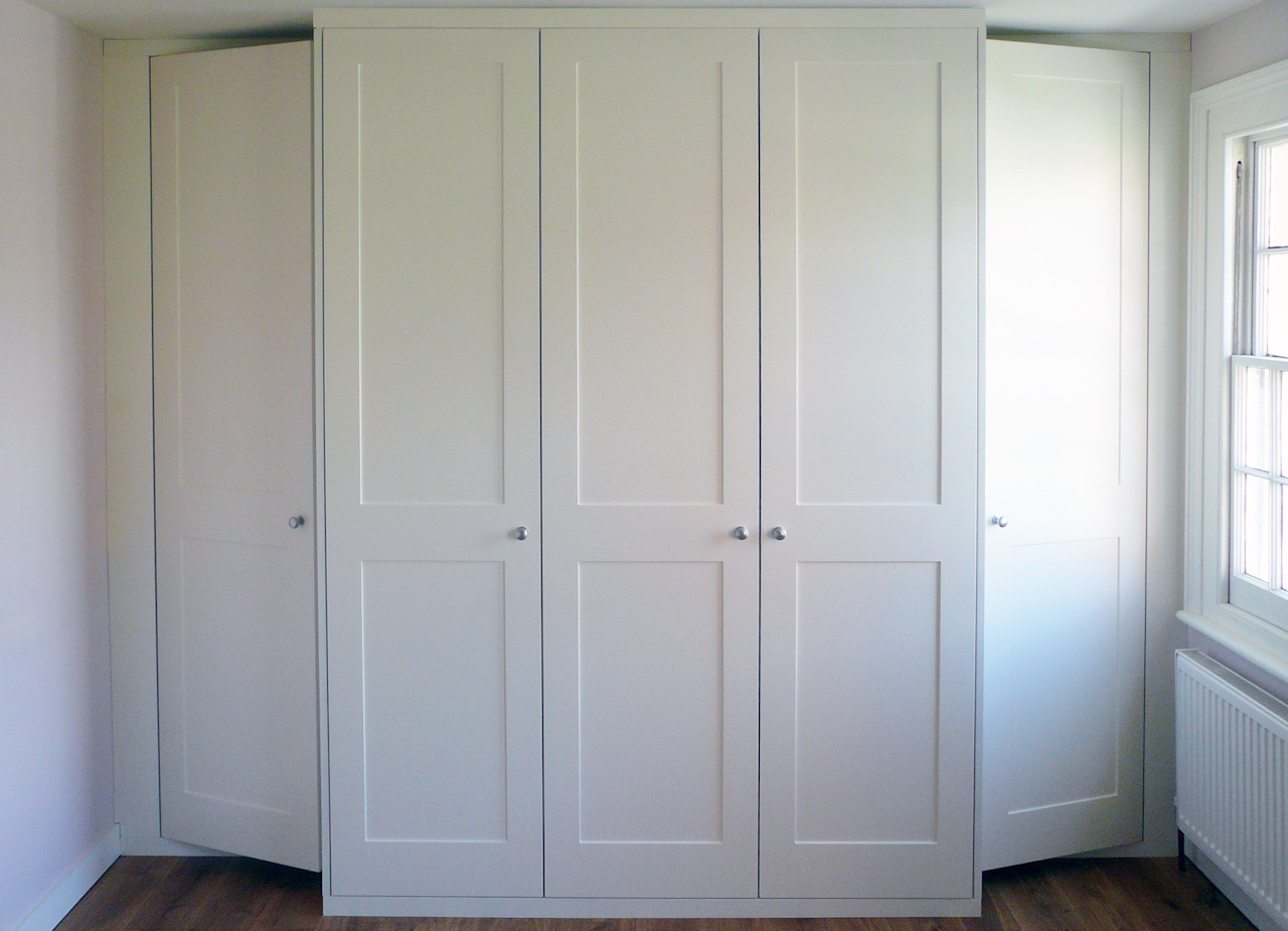 Hinged-door wardrobes pine painted white proline QSWUUYU