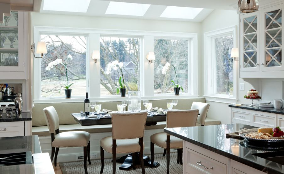 kitchen with bench seating how a kitchen table with bench seating can totally complete your home XCYPTEV