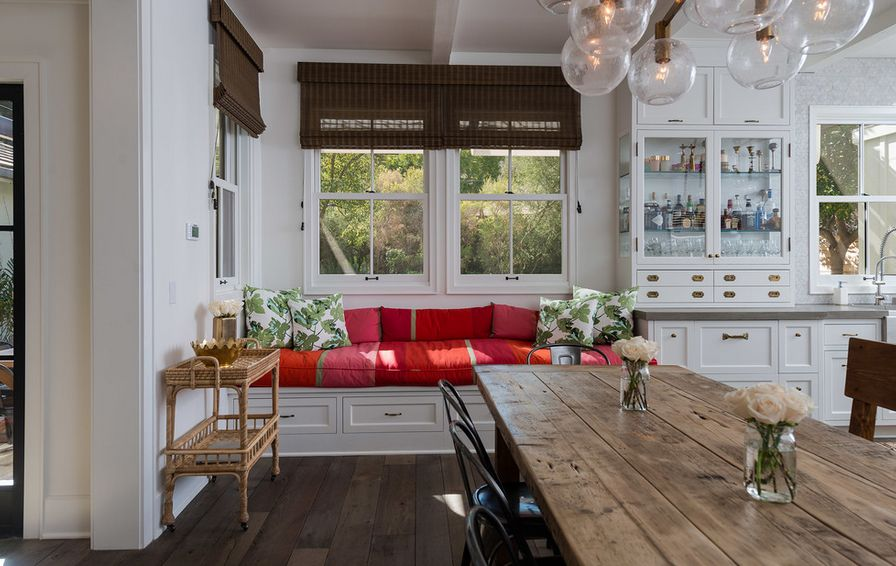 Kitchen with bench – Ideas and pictures for benches made of wood and leather in black, red and other colors
