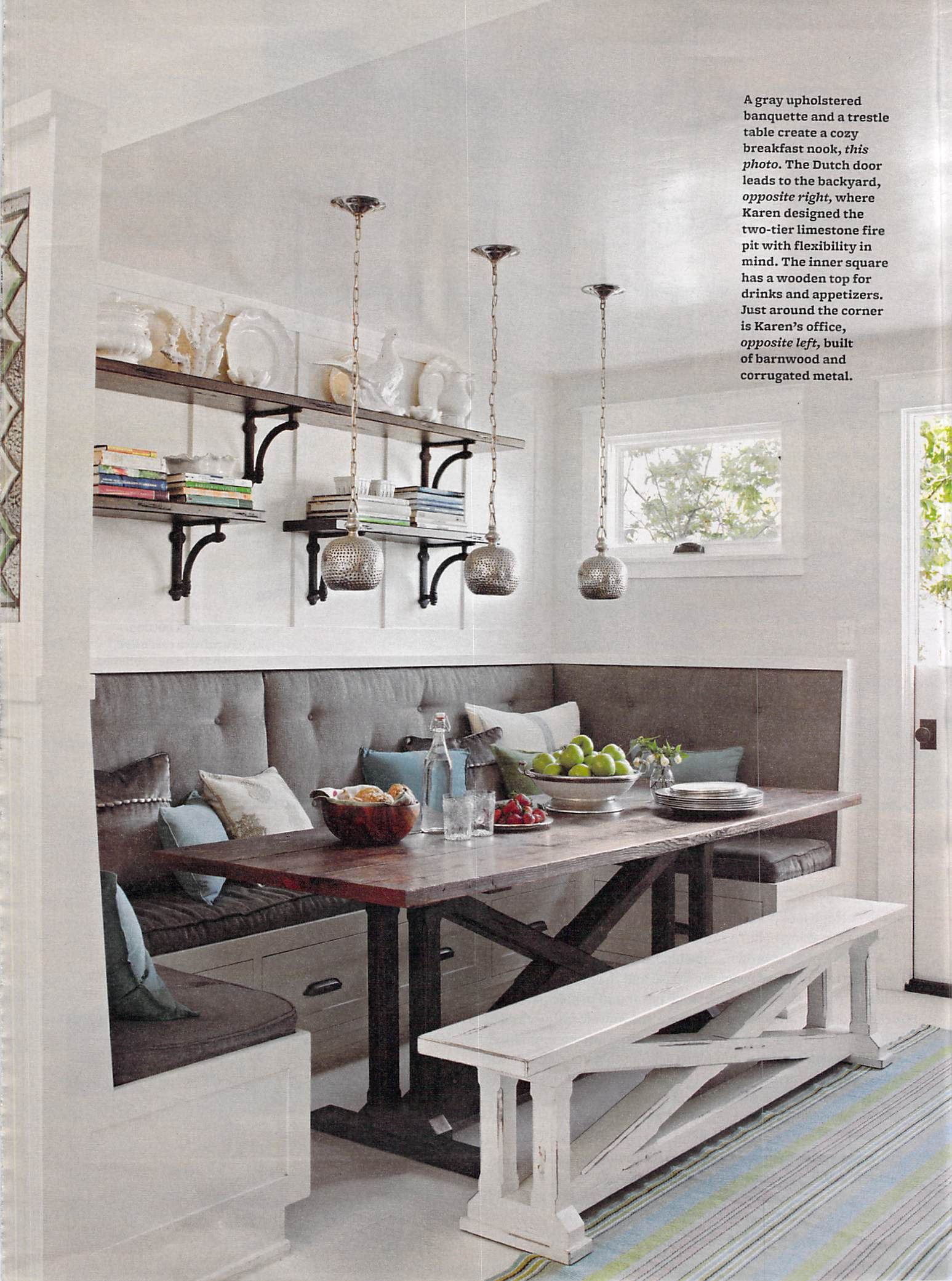kitchen with bench seating white distressed kitchen bench. love it! NWKYCCK