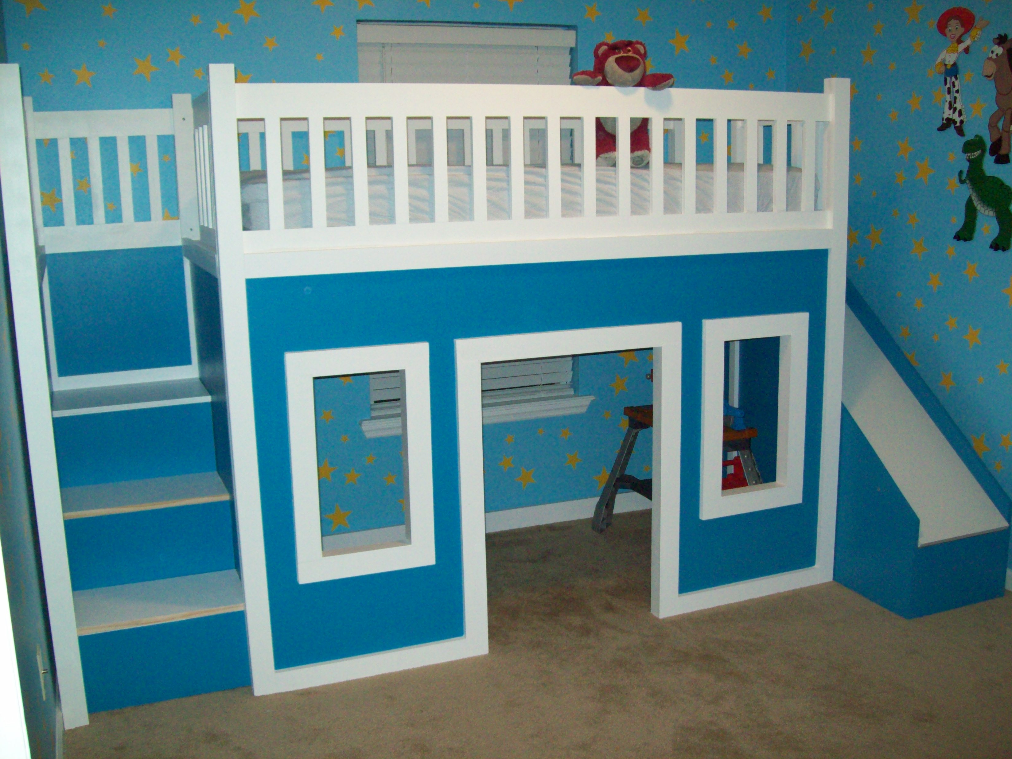 Loft beds with slide and ladder playhouse loft bed with stairs and slide FKMDLIN
