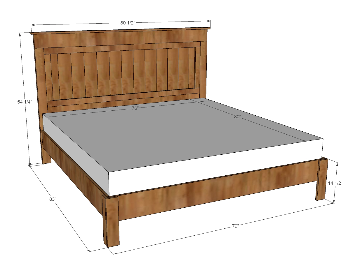 Metal beds in excess length ana white | king size fancy farmhouse bed - diy projects YRPZKLS