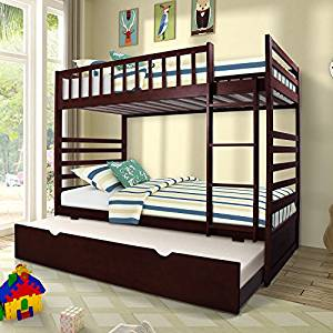 Metal beds in excess length ... twin over twin bunk bed from merax with trundle solid wood bunk DNMGBIS