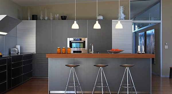 Modern Kitchen With Bar Ideas For A Bar Counter Made Of Wood Stone And Concrete Storiestrending Com