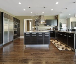 Modern kitchen with wooden floor 1. traditional. traditional laminate kitchen floor DLLIBLM
