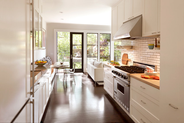 Modern kitchen with wooden floor contemporary kitchen with white oak floor contemporary-kitchen RKXCGNT