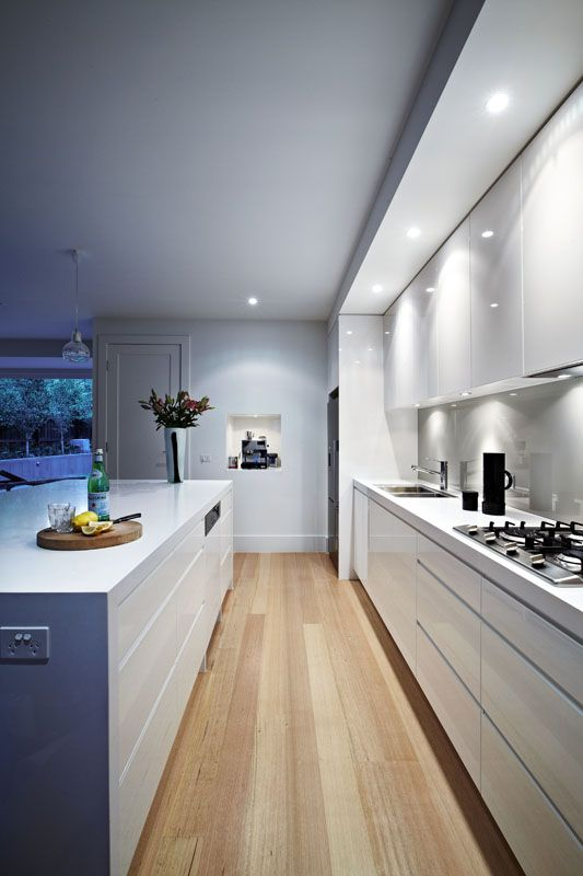 Modern kitchen with wooden floor modern kitchen wooden floor MBIMRRK