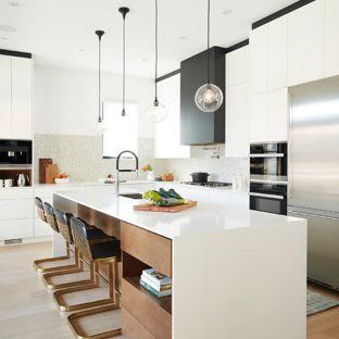 Modern L shaped kitchens modern kitchen designs - kitchen - modern l-shaped medium tone wood floor PKBUNDW