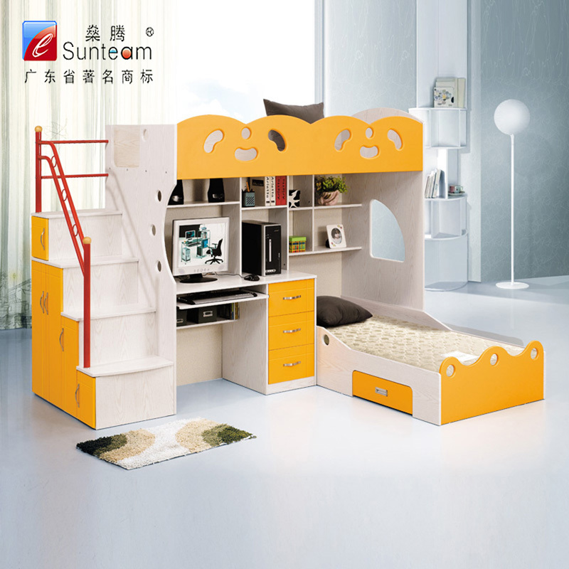Multifunctional children beds multifunction bunk bed childrenu0027s bed picture in bed computer desk bunk beds SMRSREF