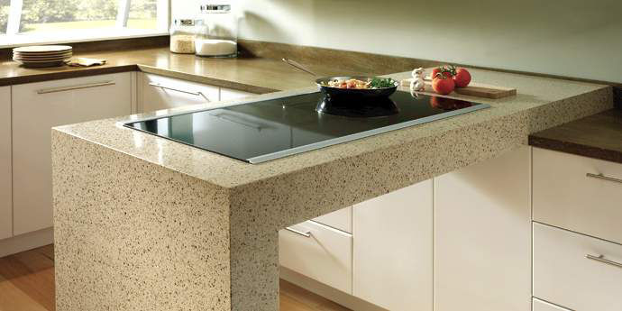 Natural stone worktop natural stone kitchen worktop / kitchen - zodiaq® savory RLAWMCK
