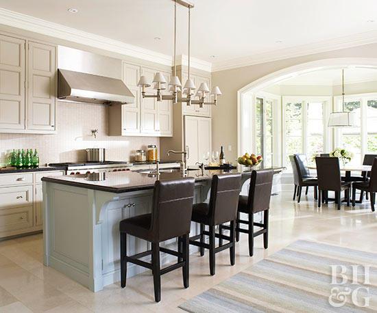 open kitchens open kitchen with dark wood stools GKZYGKB