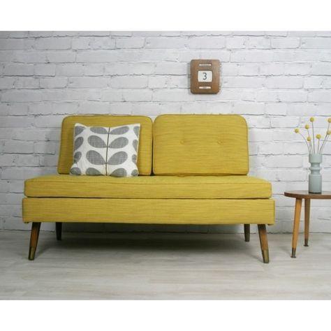 Retro style Sofa beds retro vintage mid century danish style sofa bed daybed eames era 1950s 60s BTZLUKU