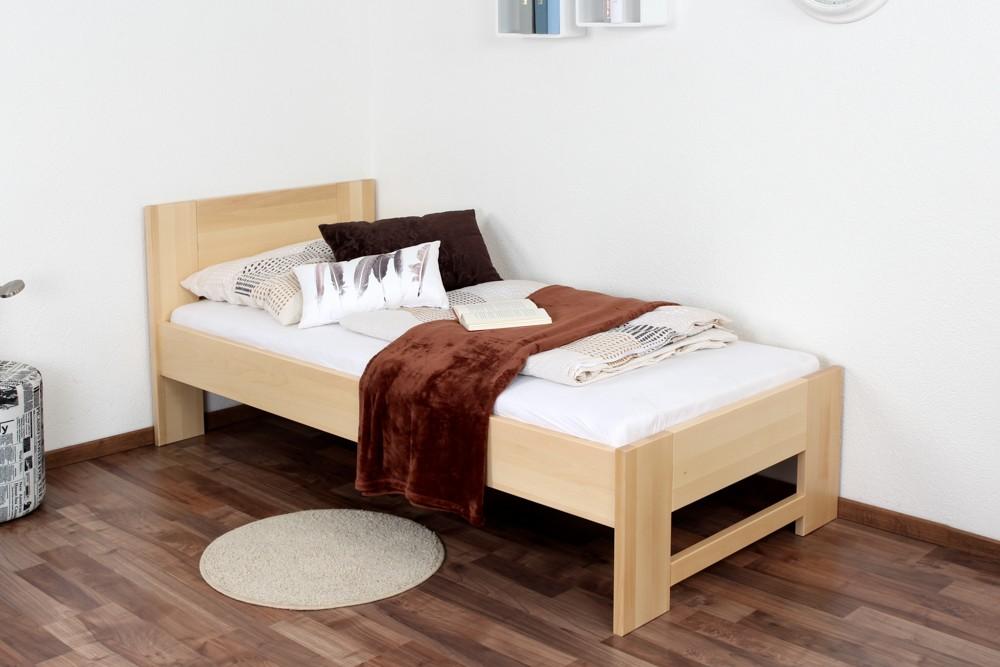 Slatted frames 90×200 single bed / day bed solid, natural beech wood 111, including slatted frame EYXWEAF