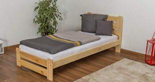 Slatted frames 90×200 single bed / day bed solid, natural pine wood a24, includes slatted frame ZGCWRCN