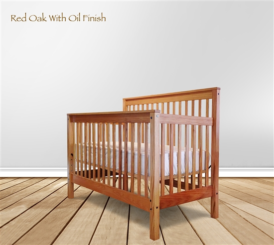 solid wood baby crib footprint slat crib SMLPBXK