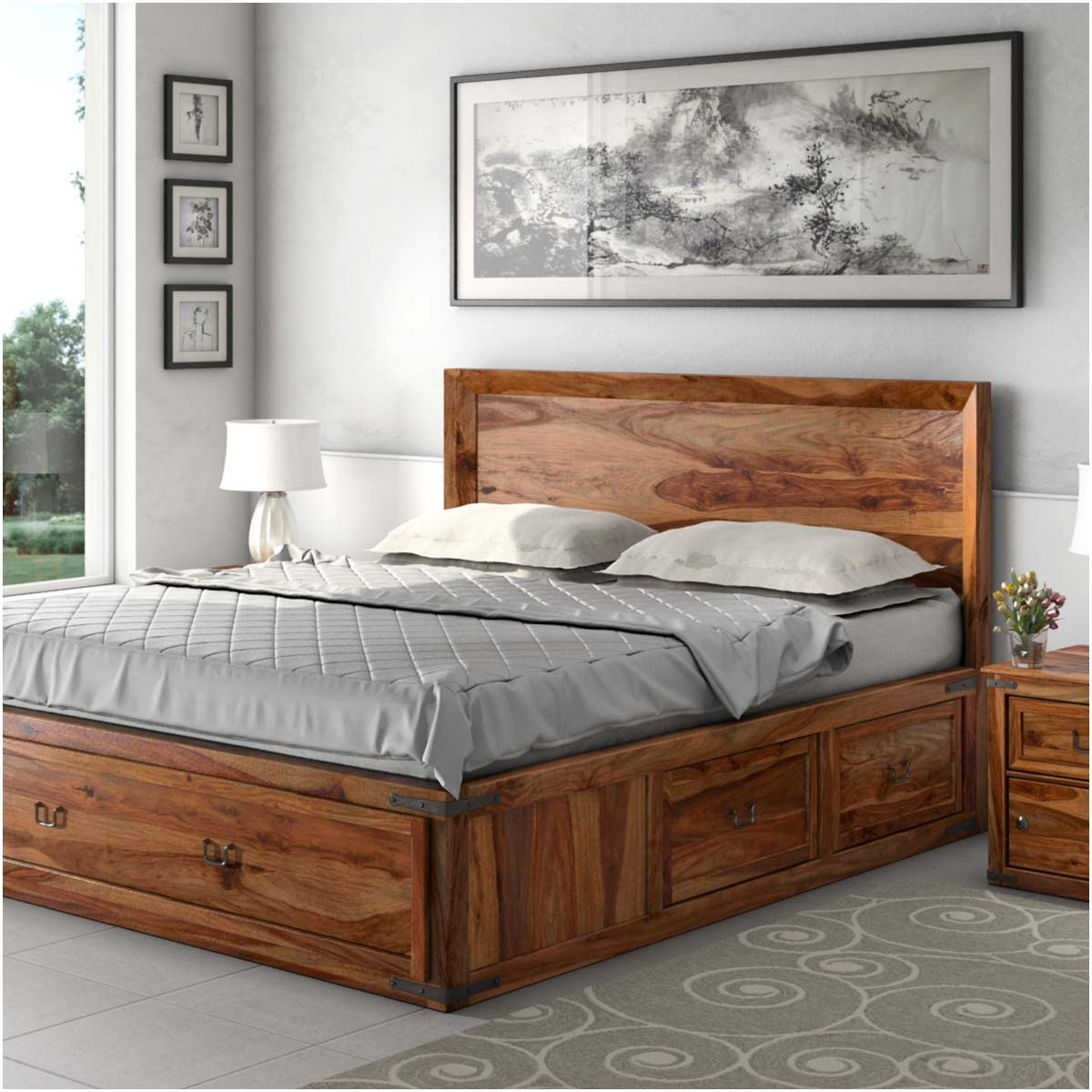 Warmth, coziness and authenticity in one: Solid wood beds