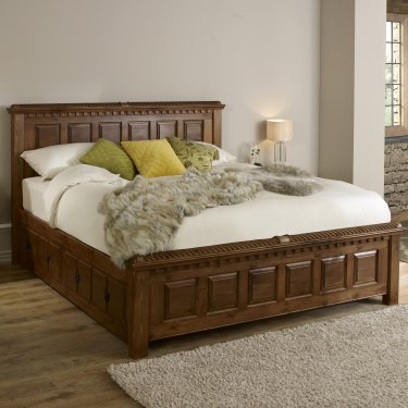 Solid wood beds traditional handcrafted solid wood bed QKMALQZ