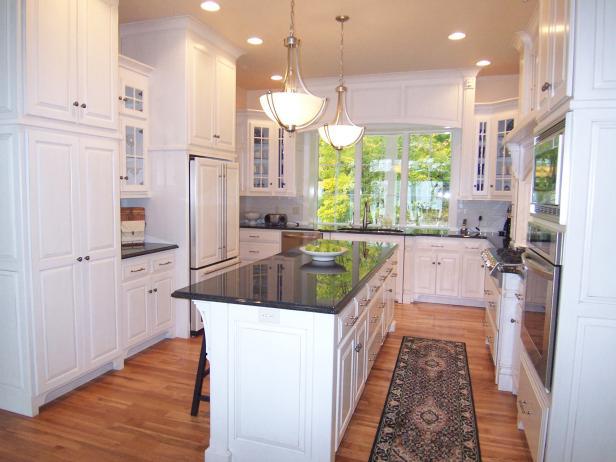 u shaped kitchen layout with island bright white kitchen BUAXVHG