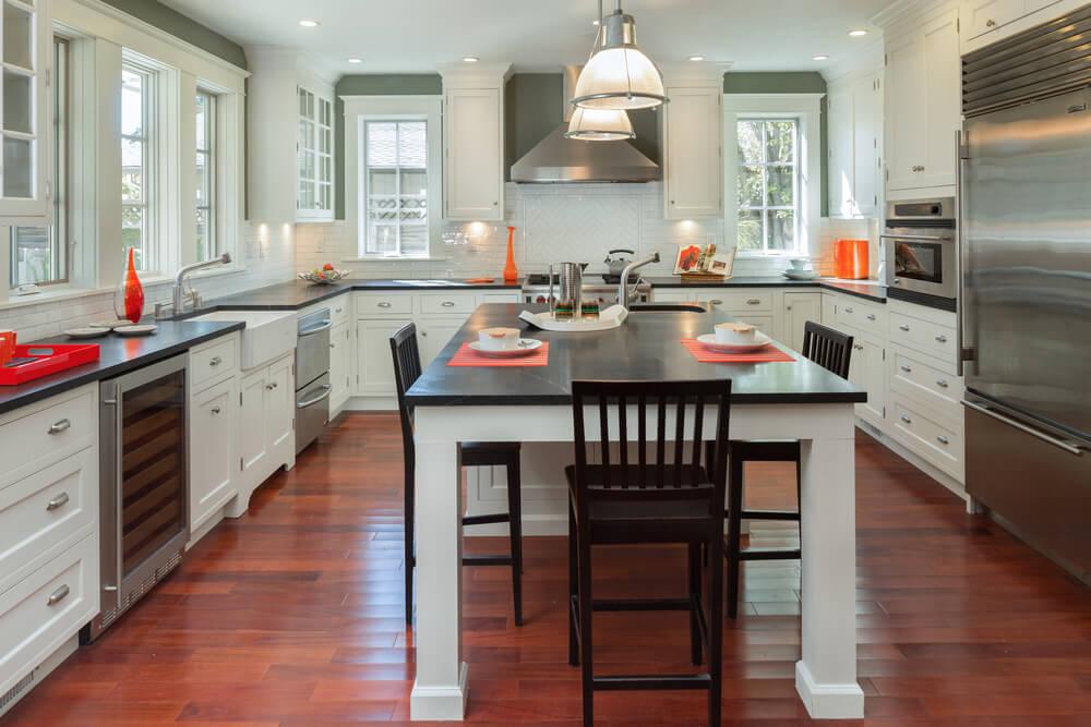 u shaped kitchen layout with island u-shaped kitchen FMLPNMY