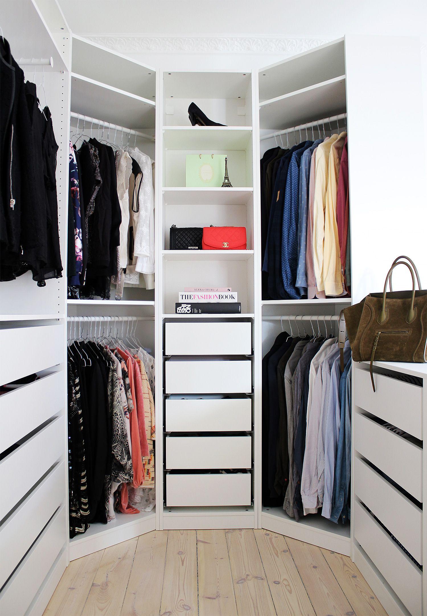 Walk-in corner wardrobes for children's room