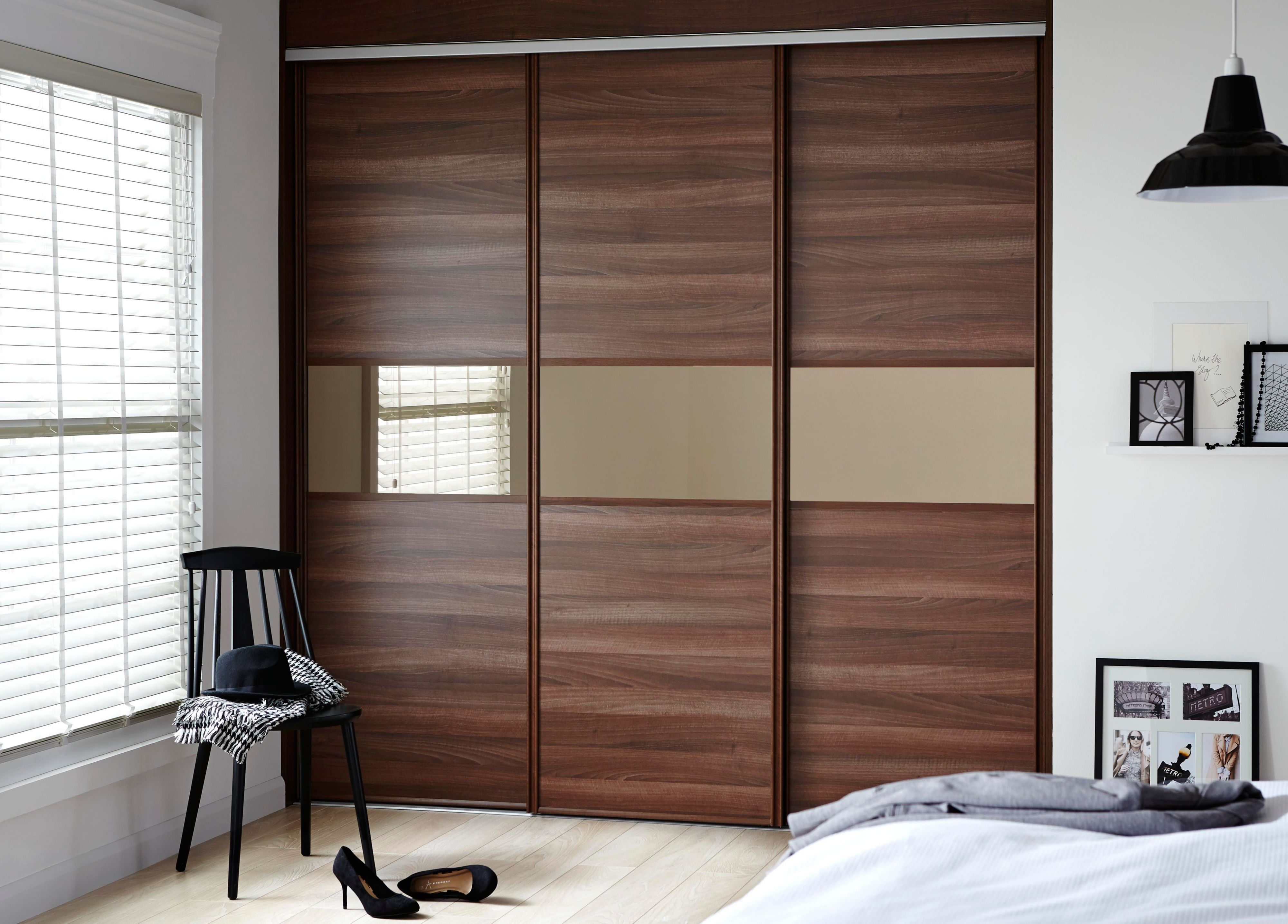 Wardrobe with sliding doors 1. add a beautiful look to your bedroom: MFADRNT