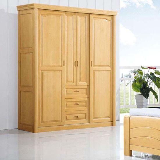 Wardrobes made of beech & core beech sliding door beech wood wardrobe with good quality (m-x1079) XBDLXTQ