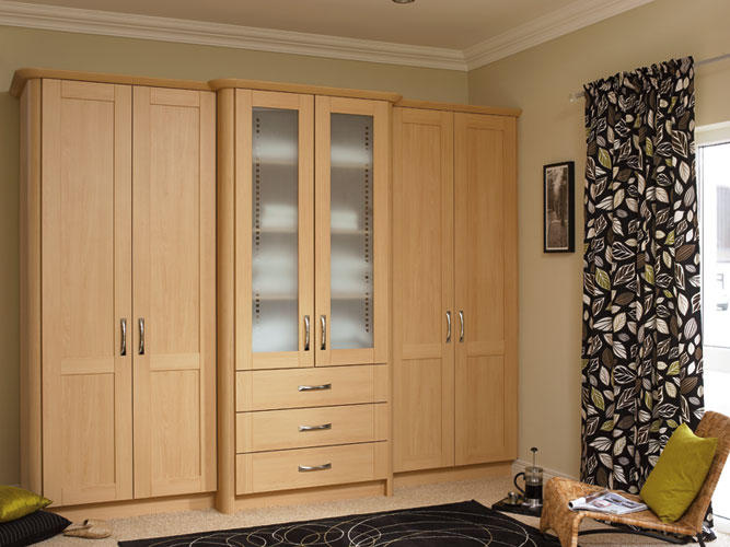 Spacious storage furniture for many rooms: Wardrobes made of beech & core beech