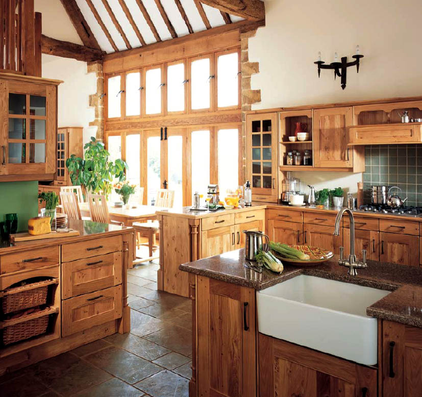 Wooden country-style kitchens: pictures & ideas for country-style rustic kitchens