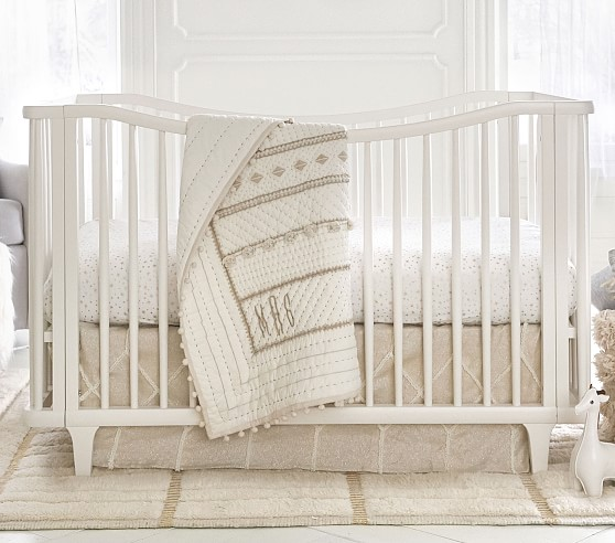 Micah Metallic Baby Bedding Sets | Pottery Barn Kids
