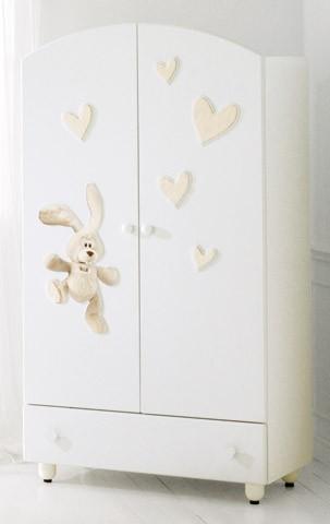 BABY EXPERT Wardrobe Trudi Cremino white | Wardrobes | Bedroom