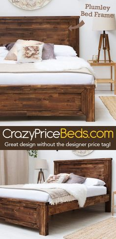 52 Best Wooden Beds & Furniture images | King size, Log furniture