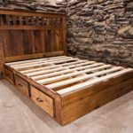 Bed frames made of oak