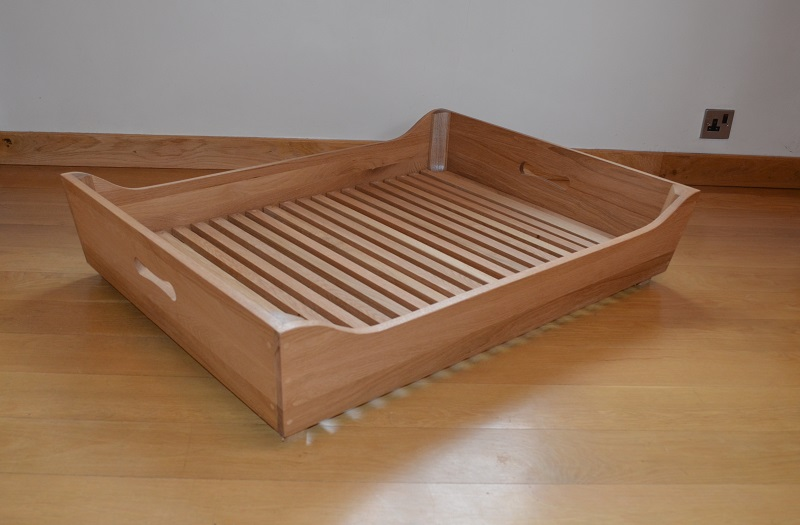 Hand-made Solid Oak Dog Bed Frame - eDogStore
