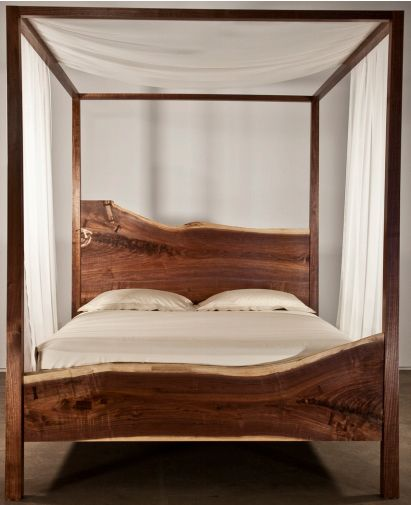 Check out the deal on Queen Canopy Bed made from Staatsburg walnut