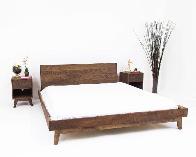 Buy A Custom The Bosco Mid Century Modern Solid Walnut Bed Made
