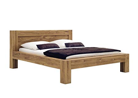 SAM ® Balder Solid Wild Oak Oiled Wooden Bed 180 x 200 CM: Amazon.co