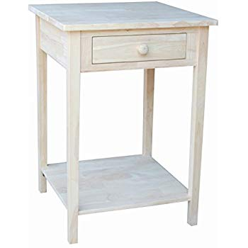 Amazon.com: International Concepts OT-91 Hampton Bedside Table