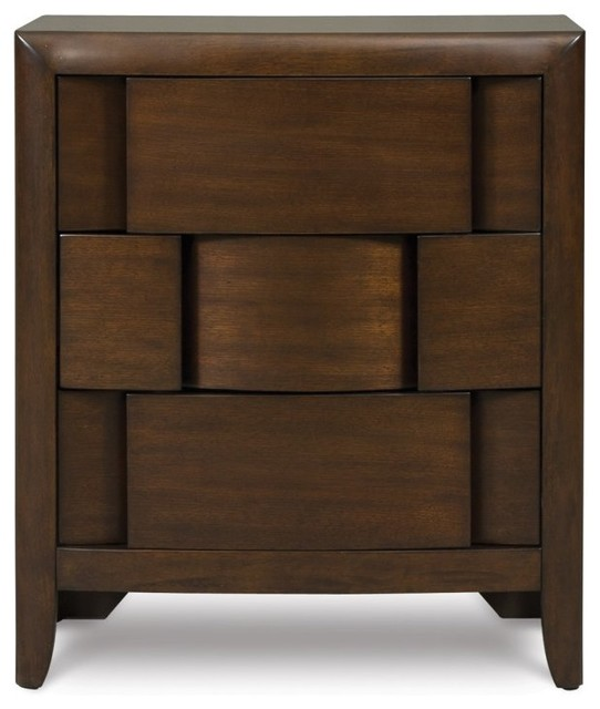 Twilight 3 Drawer Nightstand - Modern - Nightstands And Bedside