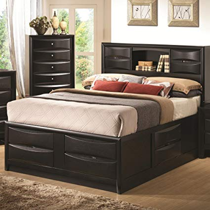 Amazon.com: Coaster Eastern King Storage Bed B1-Black: Kitchen & Dining