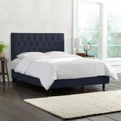 Blue - Upholstered Headboard - California King - Beds & Headboards