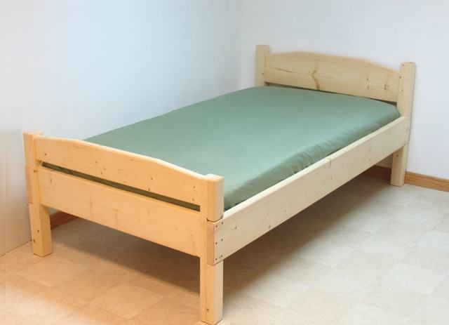 Twin bed frames, no box springs, DIY with space for the subtle cut