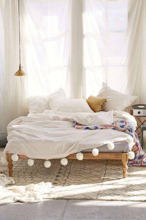 No Headboard Ideas Alternative Bedroom Decorating | colour, paper