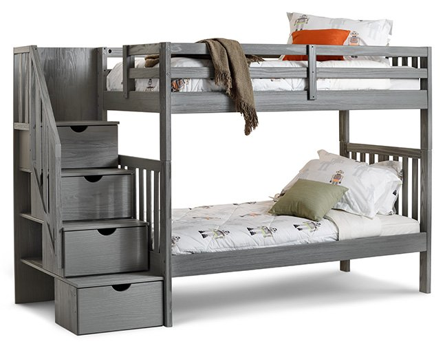 Dove Bunk Bed with Ladder - Furniture Row