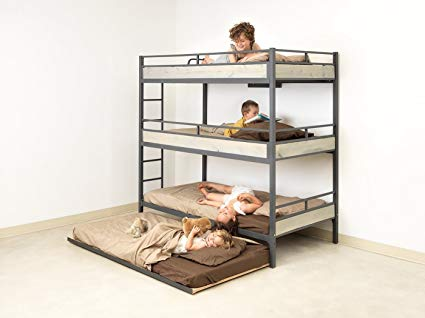 Amazon.com: Triple Bunk Bed with Trundle (matresses NOT included