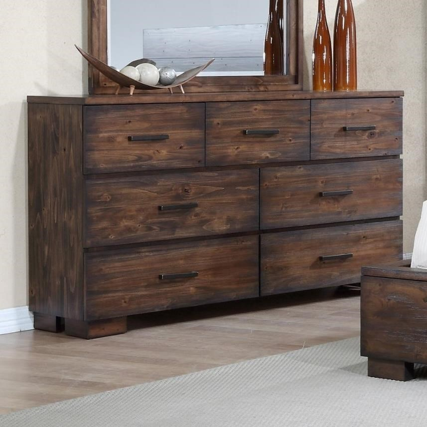 Crown Mark Cranston Solid-Wood Rustic Dresser | Bullard Furniture