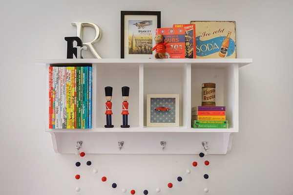 Contemporary Children Shelf Willow Wood For Beautiful Child Storage