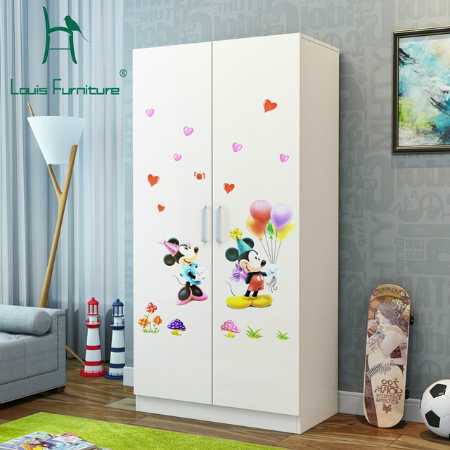 Louis Fashion Children's Wardrobes Small Family Closet Rental Room