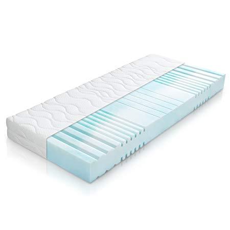 Belvandeo 7-zone cold foam mattress, Ortho Flexion Plus, ergonomic