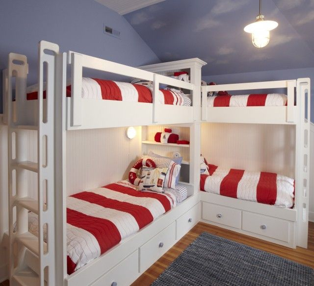 Pin by Jennifer Goins on Boys Bedroom | Bunk beds, Bunk bed designs